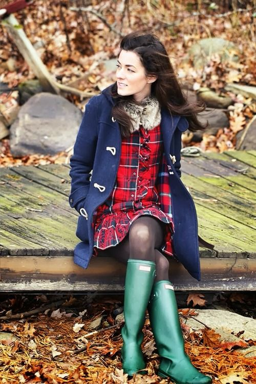 tartan + hunter green.