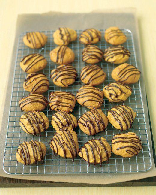 Chocolate-Glazed Pumpkin Cookies | Recipe