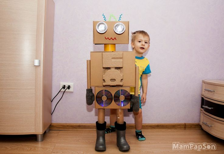 Робот из картона своими руками в домашних условиях