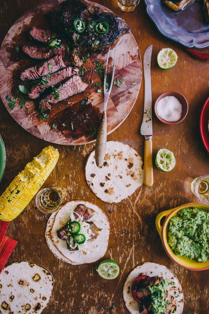 Tequila and Lime Marinated Steak via Souvlaki For The Soul