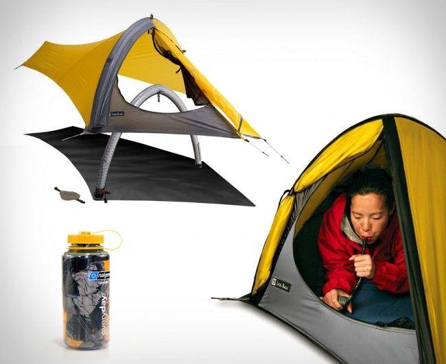 Gogo™ Elite Tent: sin estructuras rigidas, cabe en un termo de agua