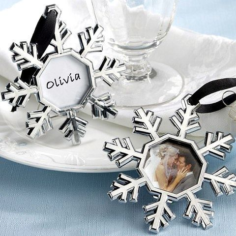 snowflake place card picture frame christmas ornaments