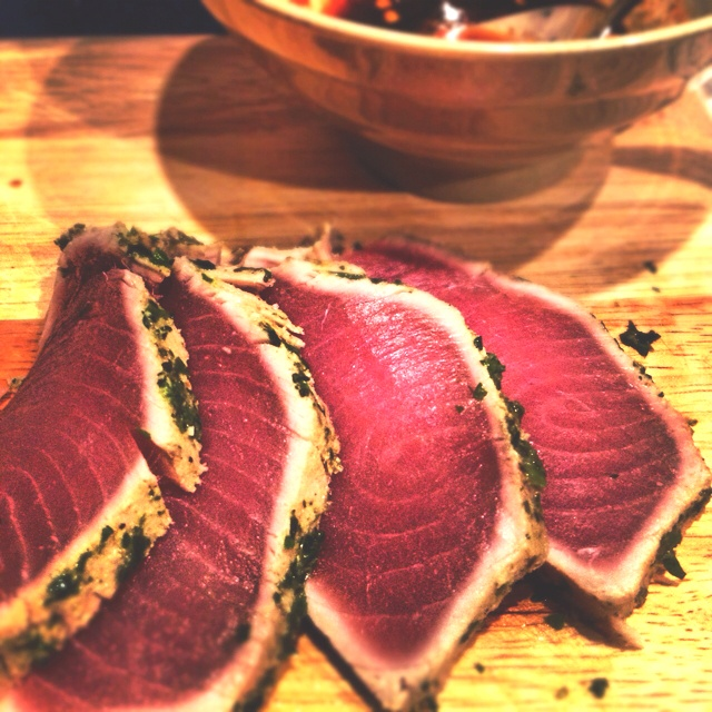 Seared rare ahi tuna. | Eat with your eyes first | Pinterest