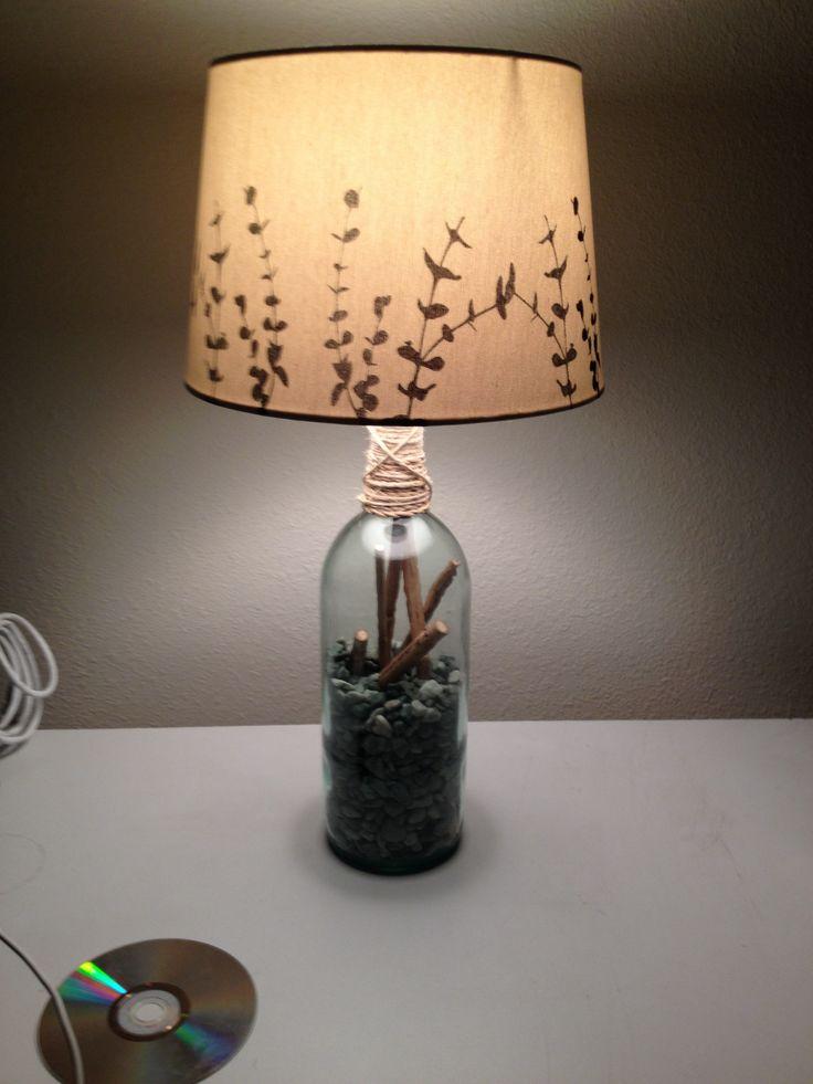 Wine bottle lamp wine bottle pinterest for Champagne bottle lamp