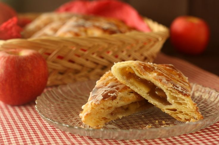 Apple Turnovers made with puff pastry and homemade apple pie filling