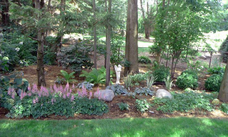 natural woodland backyard landscape kim 39 s landscape design project