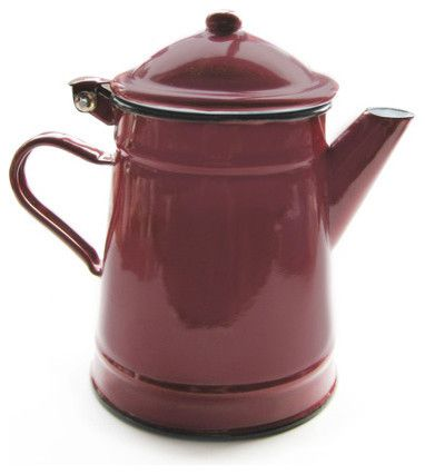Red Coffee Pot Cottage Style Pinterest