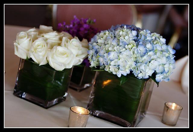 Wedding roses hydrangeas centerpiece ideas