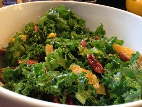 Kale Salad. Yum! | Food for the boys! | Pinterest