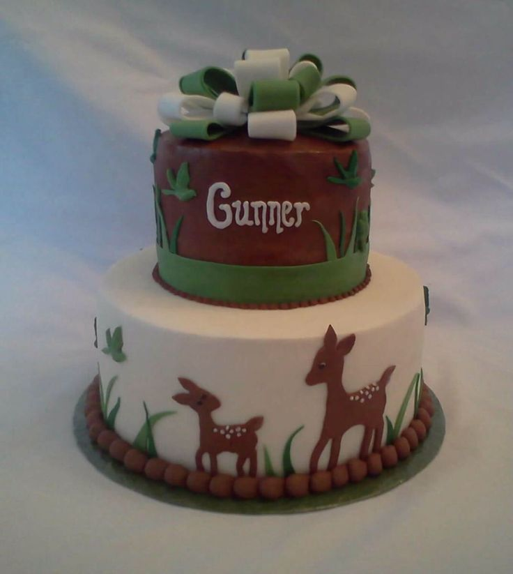 deer baby shower cake cake on board jsw pinterest