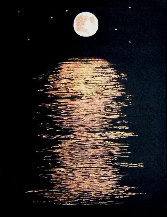 Moon River Painting - Moon River Fine Art Print