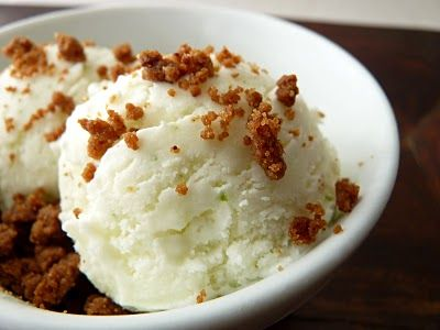 Lime ice cream with ginger crumble | EAT | Pinterest