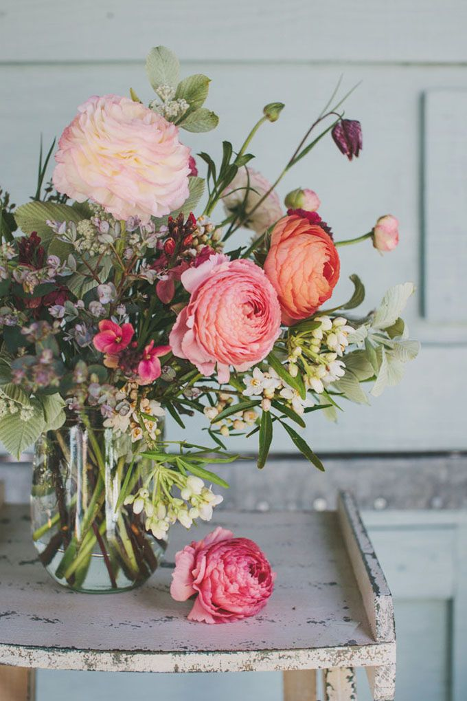 Green & Gorgeous - ranunculus bouquet and much more