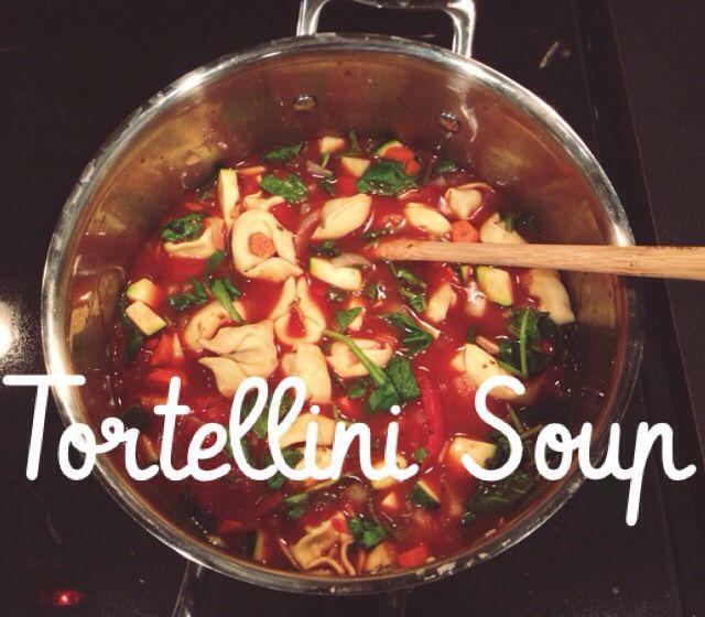 Tortellini soup recipe food pinterest