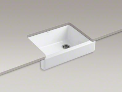 Short Apron Front Sink : farmhouse sink with shortened apron