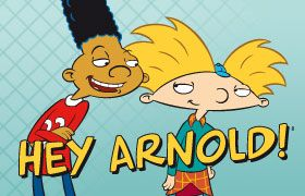 Hey Arnold! The boy with the football shaped head!