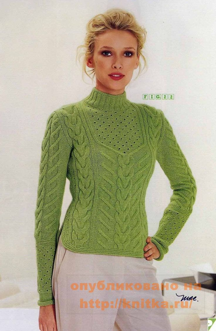 Вязание спицами свитеров пуловеров для женщин фото