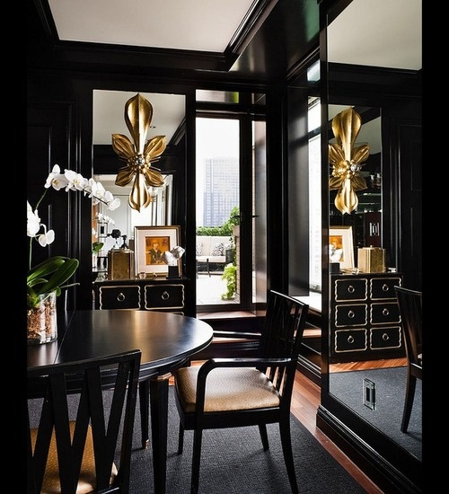 Black rooms has a sense of sophistication and elegance