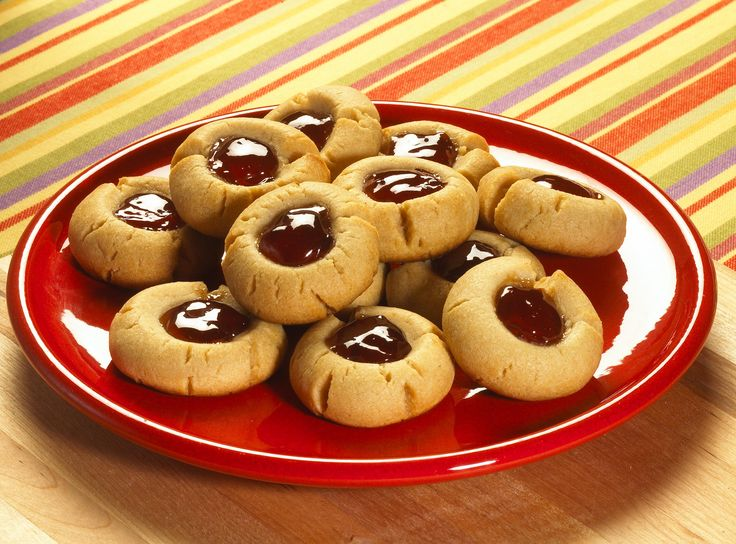 Peanut Butter and Jelly Thumbprint Cookies - The cookie that fits into ...