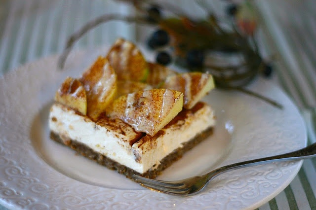 Apple Pie Cheesecake with Maple-Nutmeg Drizzle | Recipe