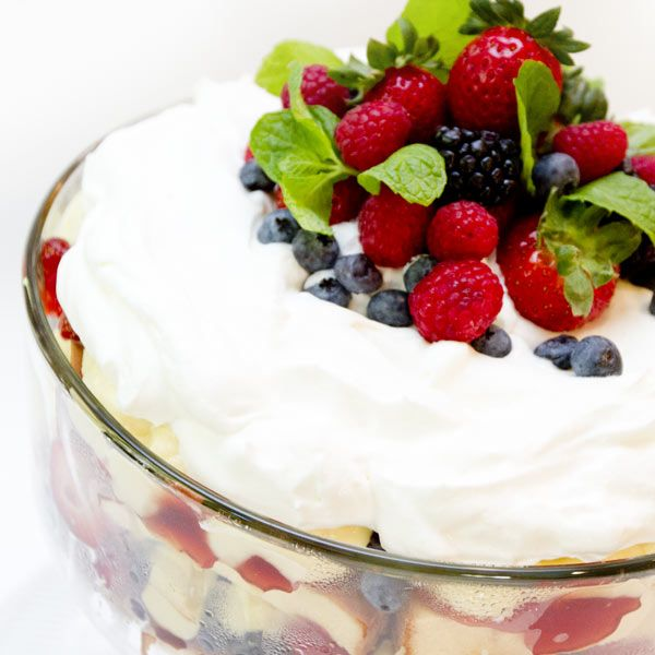 Recipe For Mixed Berry Trifle | Food | Pinterest