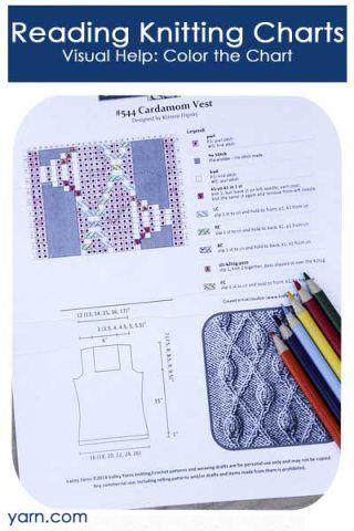 Reading Knitting Charts. Visual Help: Color the Charts Knitting Tips & ...