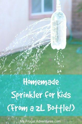 Homemade Sprinkler for Kids- from a 2L
