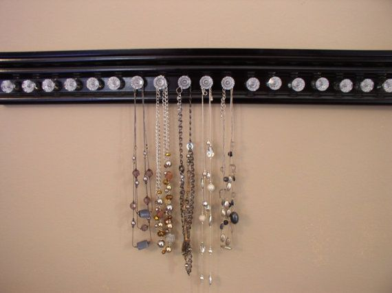 black necklace holder this necklace organizer with 19