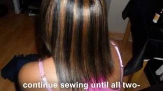 Full sew in Weave - tutorial - Braid pattern to closure - No Glue, via ...