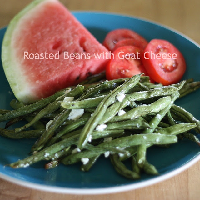 Roasted Green Beans with Goat Cheese | What's for Dinner? | Pinterest