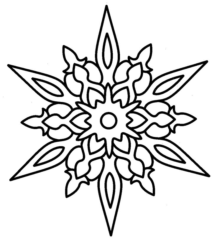 Christmas Star Coloring Page | Holiday Festivities | Pinterest