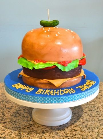 Hamburger Birthday Cake  Birthday Cakes  Pinterest