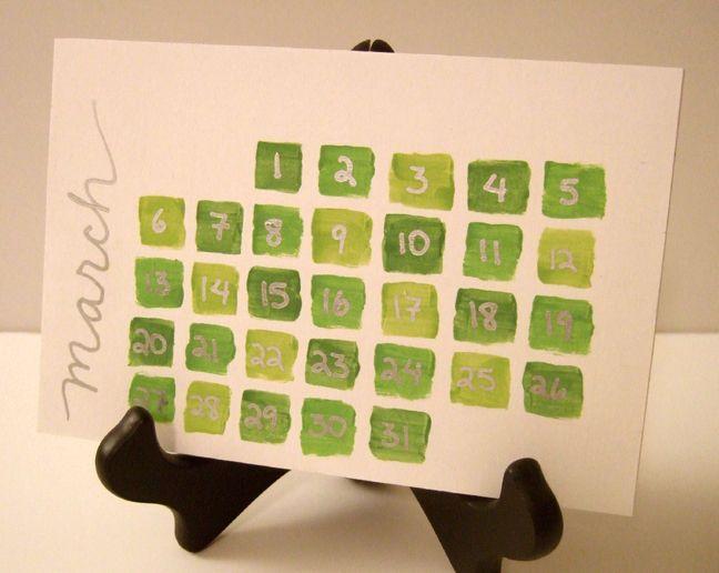 Handmade Calendar With Photos : Days of green a handmade calendar