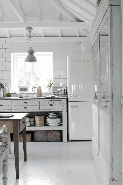 All White Kitchen Kitchens Pinterest