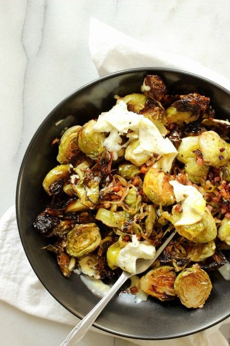 Roasted Brussels Sprouts with Pancetta | Fresh and Delicious | Pinter ...