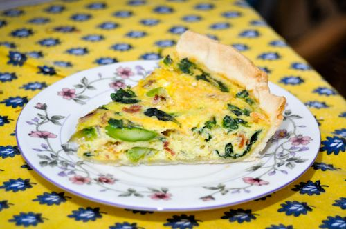 Asparagus, spinach and bacon quiche | Our life is so pretty. | Pinter ...