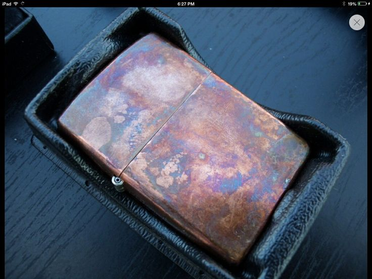 copper zippo with natural patina everyday carry edc
