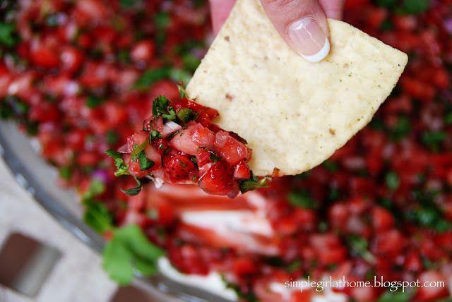 Simple Girl: Rita's Strawberry Salsa | Side Kicks | Pinterest