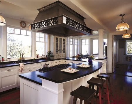 Bi level kitchen island kitchen pinterest for Bi level kitchen designs