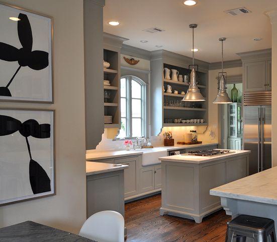 Sally Wheat Cote de Texas Carerra Marble Countertops