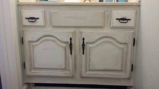 annie sloan chalk paint antiqued half bathroom cabinets