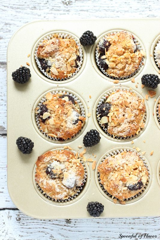 Blackberry Muffins ~ whole wheat muffins filled with blackberries and ...