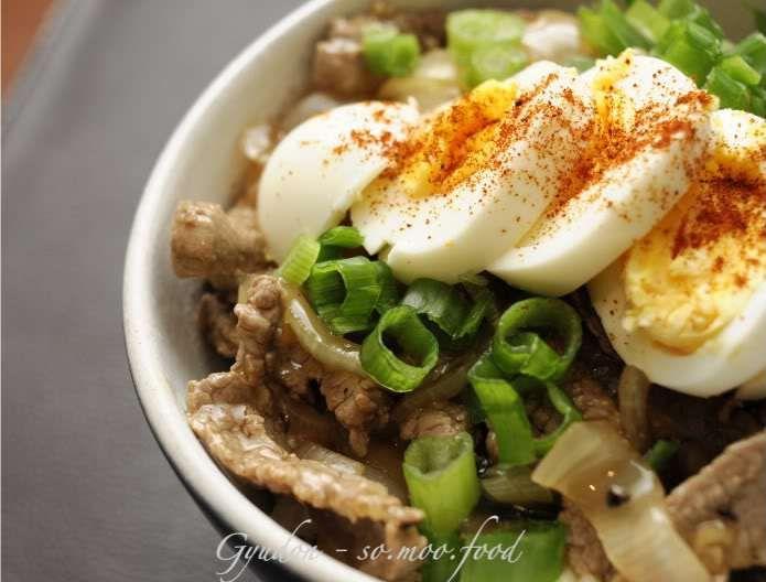 Japanese Beef Rice Bowl (Gyudon) | Main Meals | Pinterest