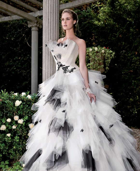 Gorgeous Black And White Wedding Dress Wedding Dresses Pinterest