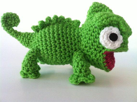 amigurumi chameleon pattern yarn Pinterest