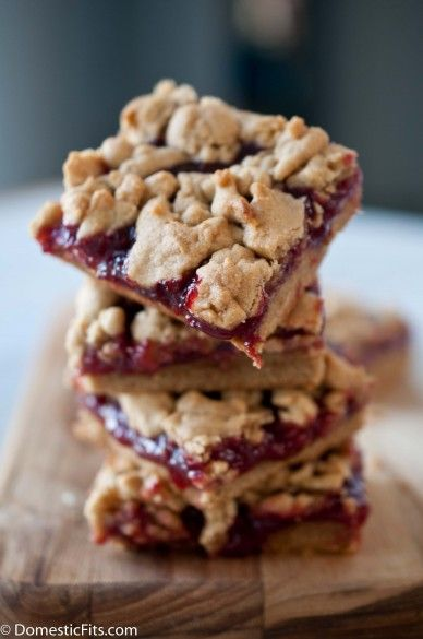 ... Of Course!) eat all of the entree... -- Peanut Butter and Jelly Bars
