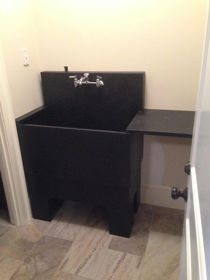 Slate Farmhouse Sink : Slate sink in a Maine home Cabins Pinterest
