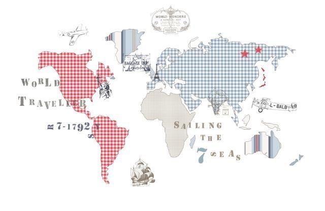 Mural de Coordonné - mapa mundi