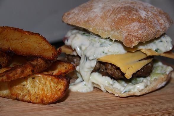 lamb burger w/ tzatziki- the best one I've eaten has been at Mile End ...