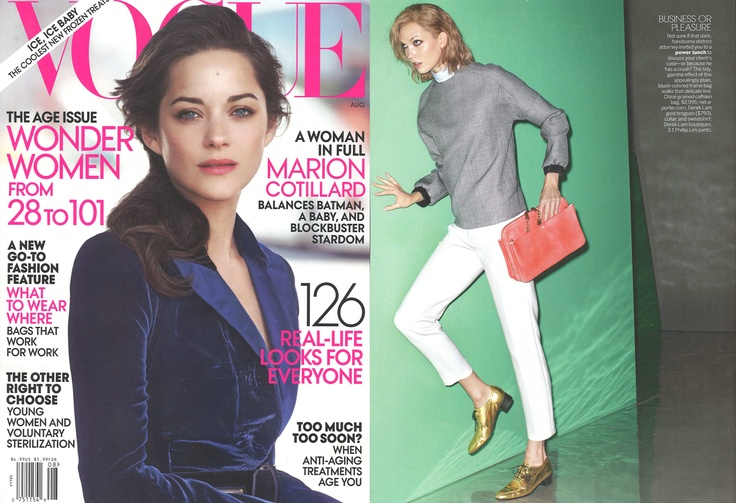 @Vogue Magazine- #Fall12 // Runway 22 // Cropped Cadillac Trousers in Antique White